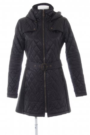 Vince Camuto Quilted Coat black quilting pattern casual look