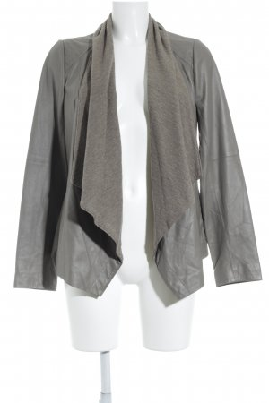 Vince Leather Jacket grey brown casual look