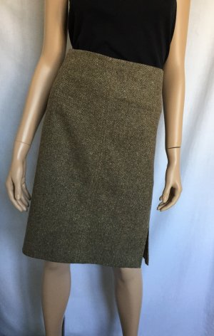 Vince Rock Gr. 44 Wollrock Pencil Skirt Bleistiftrock Business Braun brauner