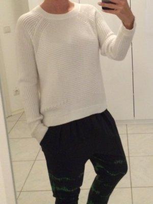 Vince - Weißer Pullover aus Baumwolle (NP 315 EUR)