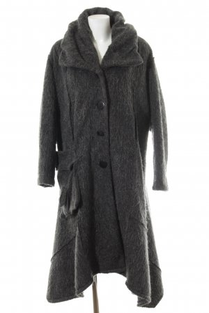 Vincenzo Allocca Wool Coat dark grey-anthracite flecked casual look