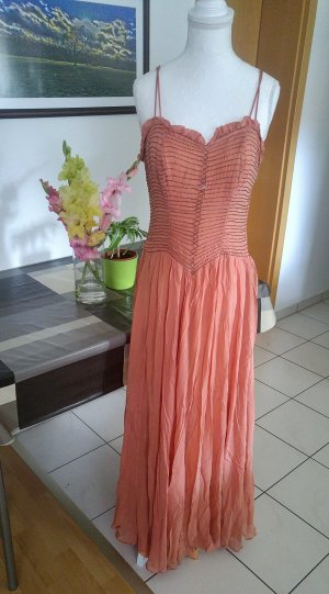 Vintage 30s Kleid antik seiden chiffo n handbestickt