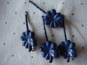 Vintage Molletta per capelli blu scuro Materiale sintetico