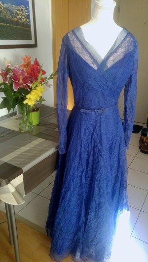 Vintage 40s Kleid abendkleid spitze mit gürtel