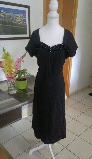 Vintage 40s Kleid strass Diamant glitzer wiggle samt peplum