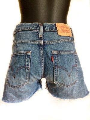 Levi's Pantaloncino di jeans blu fiordaliso Cotone