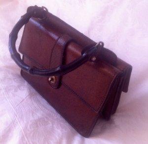 Vintage 50er Bamboo-Echtleder Handtasche, Rarität, aussergewöhnlich, Qualität