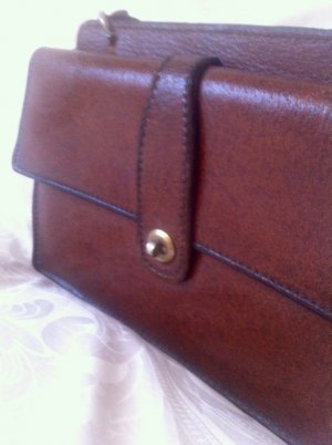 Frame Bag brown leather