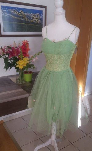 Vintage Midi Dress pale green-lime-green