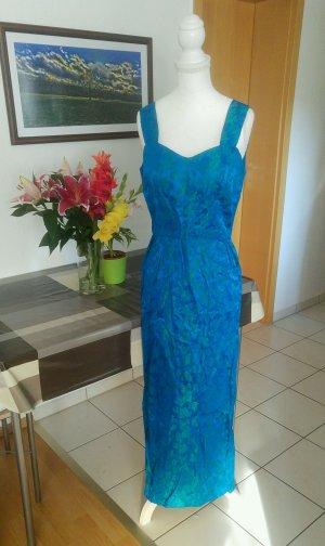 Vintage Falda estilo lápiz azul neón-verde claro