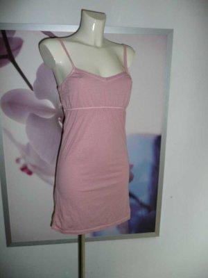 Vintage 55 Träger Strand Kleid Dress Empire Stil stretchig rosa 34-36