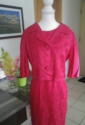 Vintage 60s Kleid mit Jacke sei den Satin paisley designer