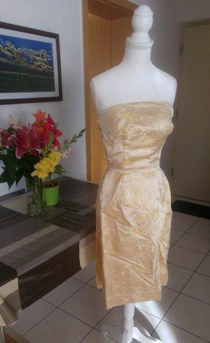 Vintage Falda estilo lápiz color oro