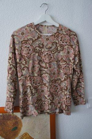 Kraagloze sweater camel-roze