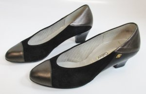 Gabor Loafers black-bronze-colored leather