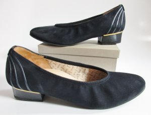 Loafers blue-dark blue leather