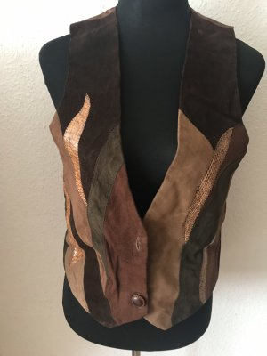 Leather Vest multicolored