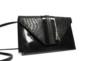 Vintage 80s Black Varnished Shoulder Bag