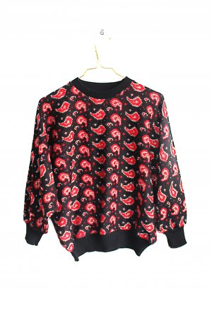 Vintage 90s Abstract Glitter England Cropped Sweater