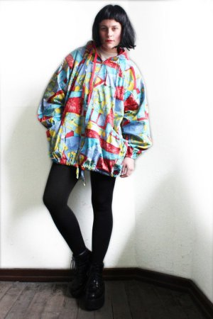 Vintage 90s Abstract Oversize Reversible Jacket