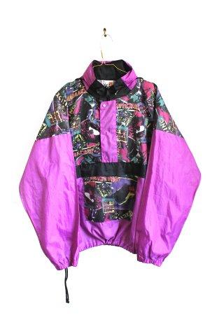 Vintage 90s Abstract Oversize Sports Festival Windbreaker Jacket