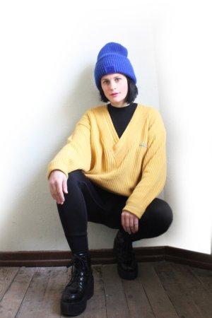 Vintage 90s Designer Carlo Colucci V-Neck Wool Sweater