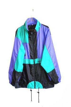 Vintage 90s Geometric Oversize Sports Festival Windbreaker Jacket