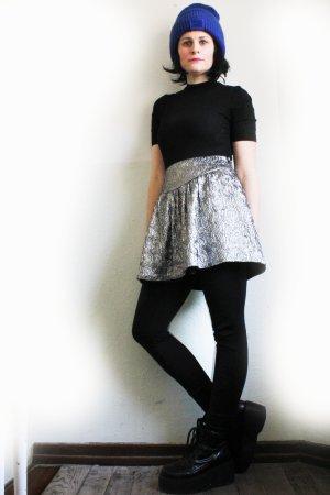 Vintage 90s High Waist Glitter Space Skirt