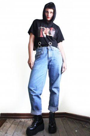 Vintage 90s Lee Boyfriend Mom Jeans High Waisted