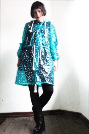 Vintage 90s Oversize Stars Print Rain Coat