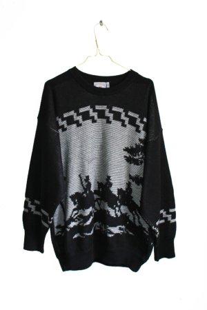 Vintage 90s Oversized Sportswear Wool Sweater