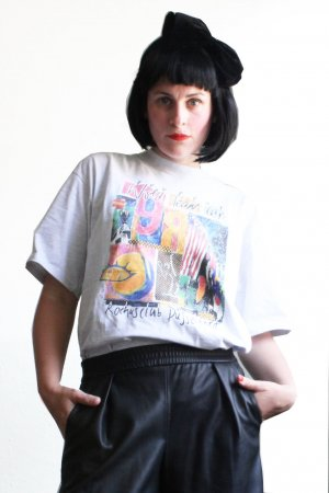 Vintage 90s Print Sports T-shirt