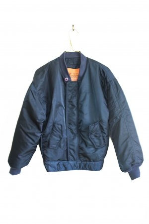 Vintage Bomber Jacket dark blue