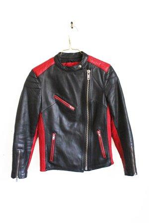 Vintage 90s Sports Leather Motor Biker Jacket
