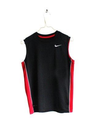 Nike Débardeur de sport noir-rouge