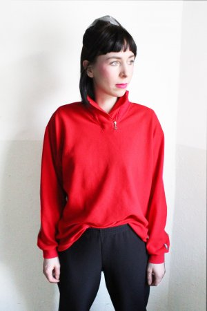 Vintage 90s Sportswear Red Fleece Sweater