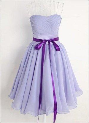 Vintage Abendkleid Chiffon Kleid flieder lila Schleife bandeau S 36