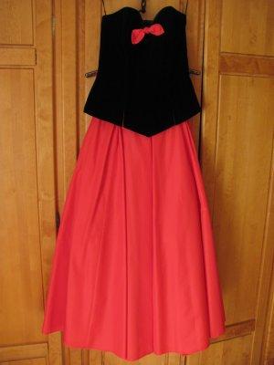 Apart Evening Dress black-red modal fibre