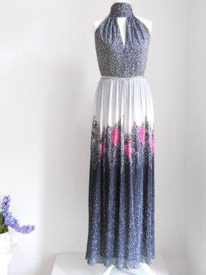 Vintage Abendkleid mit Metallgürtel Gr. 38