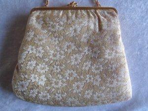 Vintage Abendtasche mit Goldmusterungen