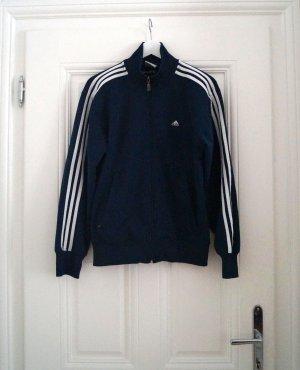 Vintage Adidas Jacke dunkelblau mit weiß