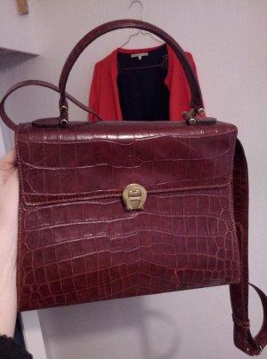Vintage Aigner Kroko Handtasche (crossbody)