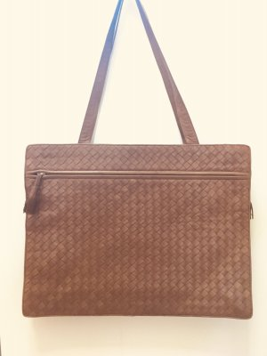 Bottega Veneta Briefcase bronze-colored leather
