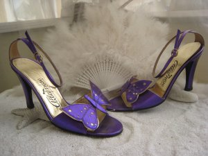 High Heel Sandal lilac-lilac leather