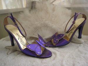 Vintage Albanese Roma ´Luxus Fuß Dessous Sweet & Sexy Farfalla Lila NP 189 €