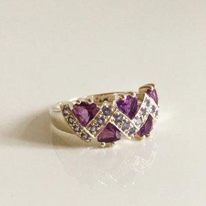 Vintage Amethyst Sterling Silber Ring 925er Silberring