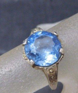 Vintage Zilveren ring veelkleurig