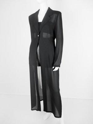 Apart Impressions Blusa larga negro Fibra sintética