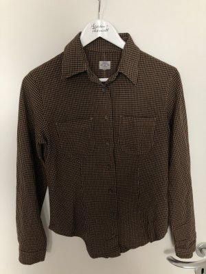 Armani Checked Blouse dark brown-brown