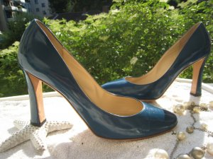 Armani High Heels petrol leather